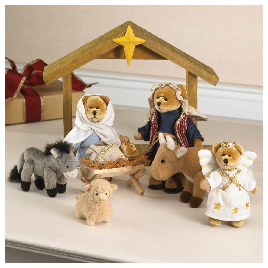 Miniature Nativity Set Boyds Bear