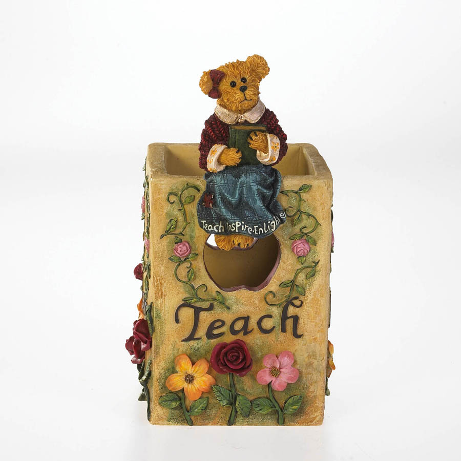 Miss Ann Lighten's Pencil Holder Boyds Bear