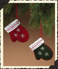 Mitten Ornaments Boyds Bear