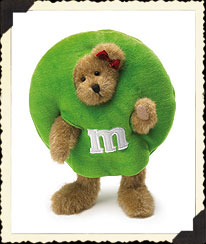 M&m's® Green Peeker Boyds Bear