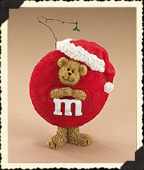 M&m's® Mistletoe Peeker Figurine Boyds Bear