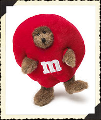 M&m's® Red Peeker Boyds Bear