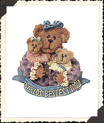 Momma Caresalot With Scoots & Toots...world's Best Mom Pin Boyds Bear