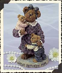 Momma Caresalot With Scoots & Toots...world's Best Mom Boyds Bear