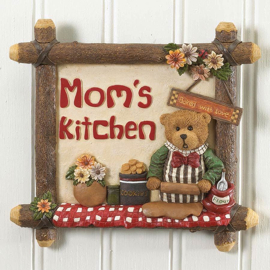 Mom's Kitchen Wall Tile Boyds Bear