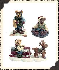 Mooselfluff's Ski Chalet And Water Ballet Folks Boyds Bear