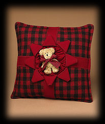 Mountain Pine Present Pillow Boyds Bear