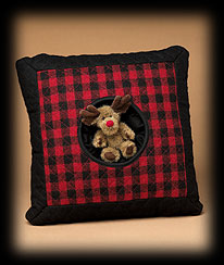 Mountain Pine Quilted Pillow Boyds Bear