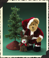 Mr Kringlebeary, Elmer & Mini Christmas Tree Boyds Bear