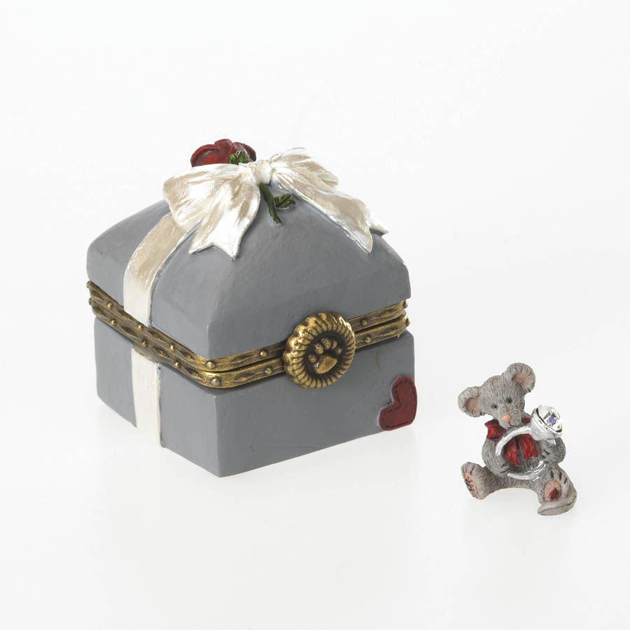 Mr. Mcbearsley's Ring Box With Bling Mcnibble Boyds Bear