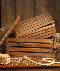 Offishull Boyds® Nested Wooden Crates! Boyds Bear