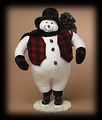 Old World Snowman Tablepiece Boyds Bear