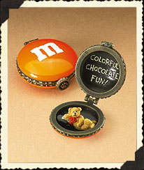 Orange Boyds M&m's® Halloween Hinged Box Boyds Bear