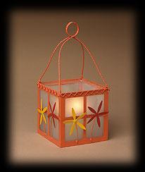 Orange Flowers And Herbs Glass Lantern Boyds Bear