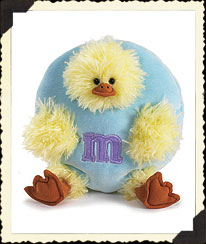 Paste Blue Plush Peeker Boyds Bear