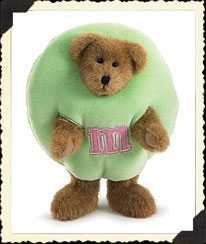 Pastel Green Plush Peeker Boyds Bear