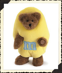 Pastel Yellow Plush Peeker Boyds Bear
