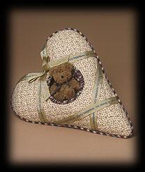 Patriotic Heart-shaped Pillow Boyds Bear