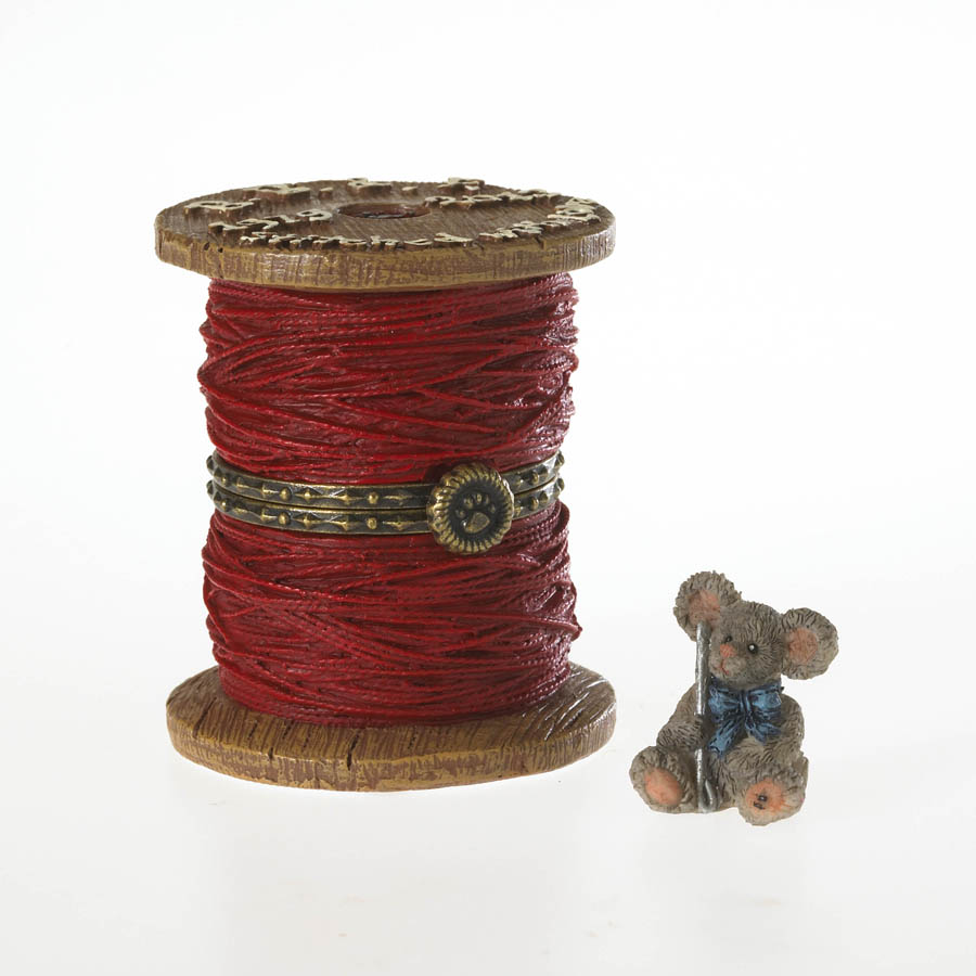 Peg's Spool Of Thread With Stitch Mcnibble Boyds Bear
