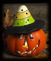 Peter Pumpkin Votive Holder Boyds Bear