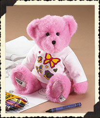 Pink Boyds Crayola® T-shirt Coloring Fun Set Boyds Bear