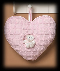Pink Heart Pillow Boyds Bear