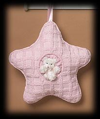 Pink Star Pillow Boyds Bear