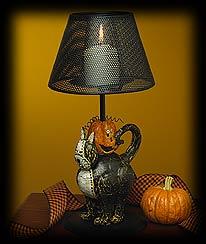 Piwackett & Pumpkin Votive Holder Boyds Bear