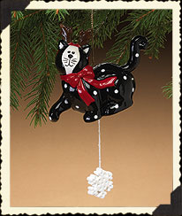 Playful Kitty Action Ornament Boyds Bear