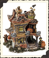 Punky Boobear's Haunted Halloween House Boyds Bear