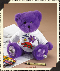 Purple Boyds Crayola® T-shirt Coloring Fun Set Boyds Bear