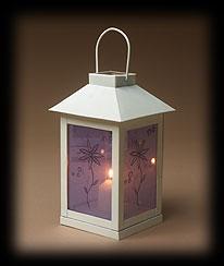 Purple Cloth Embroidered Floral Lantern Boyds Bear