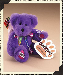 Purple Crayola® Doodlepad Bear By Boyds Boyds Bear