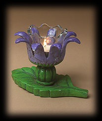 Purple Flowers And Herbs Votive Boyds Bear