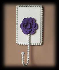 Purple Wall Hook With Flower Accent Boyds Bear