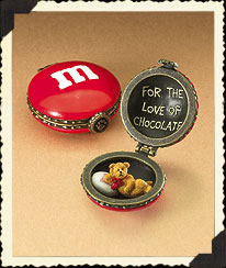 Red Boyds M&m's® Valentine's Hinged Box Boyds Bear