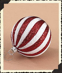 Red & White Ball Ornament Boyds Bear