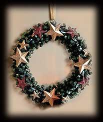 Ribbon Star Wreath Boyds Bear