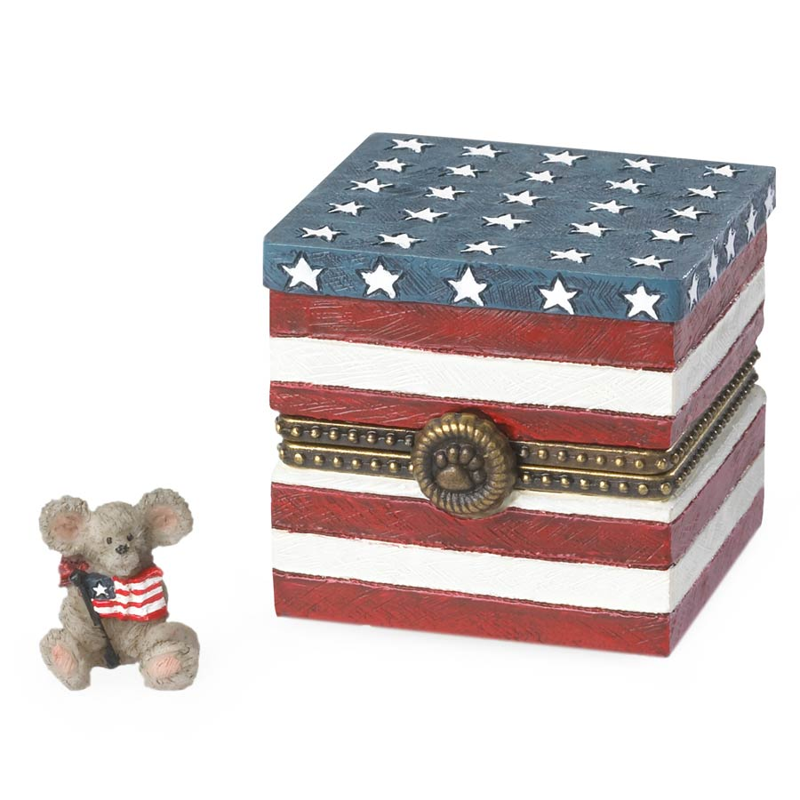 Sami's Flag Box With Liberty Mcnibble Boyds Bear