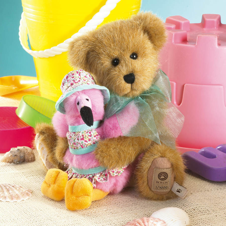Sandi With Pinky... Feathered Friends Boyds Bear