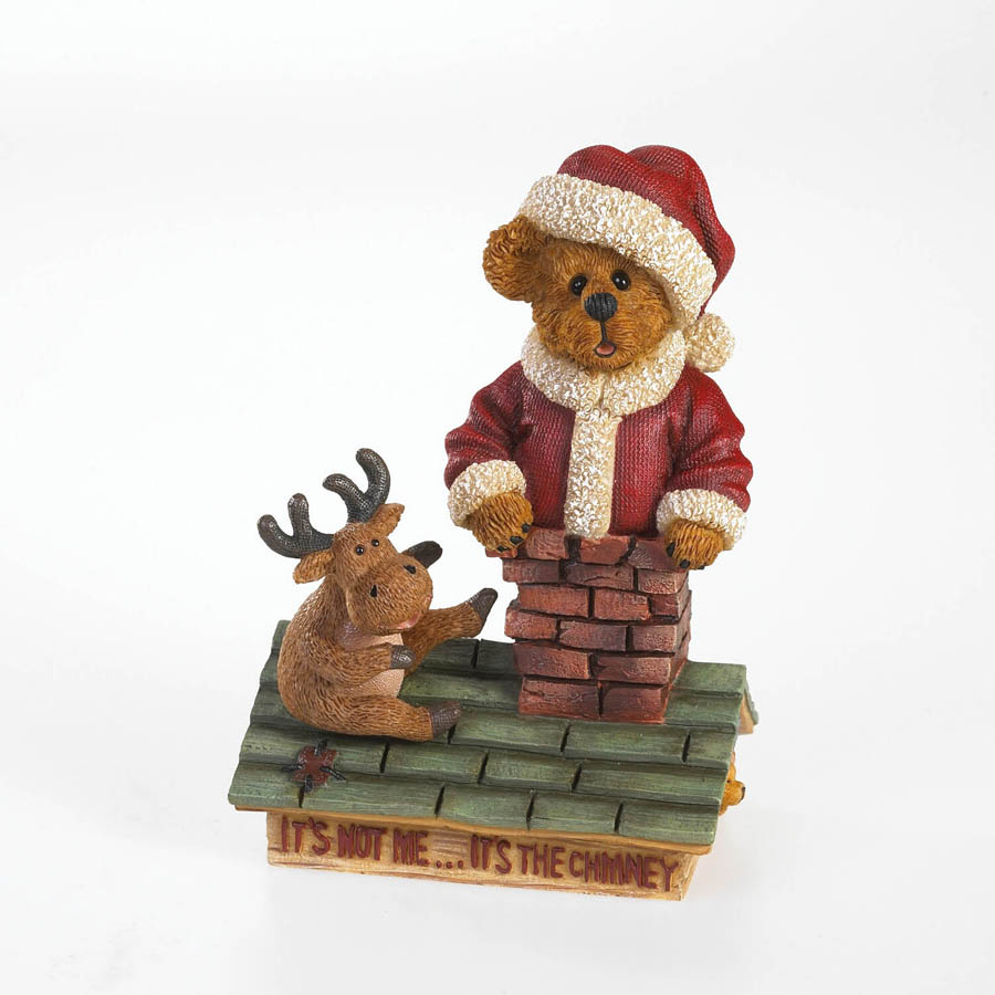 Santa And Ralph... Too Many Cookies! Boyds Bear