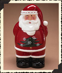Santa Cookie Jar Boyds Bear