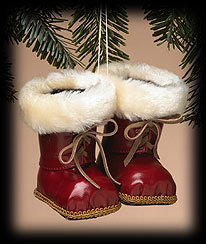 Santa's Boots Ornament Boyds Bear