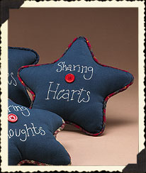 Sharing Heart Sachet Star Pillow Boyds Bear