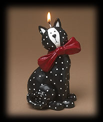 Sitting Kitty Candle Boyds Bear
