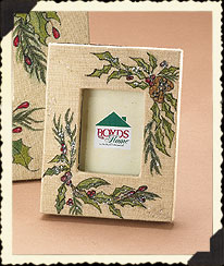 Small Boughs Of Holly Frame Boyds Bear