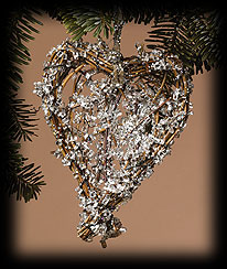 Small Ice Heart Ornament Boyds Bear