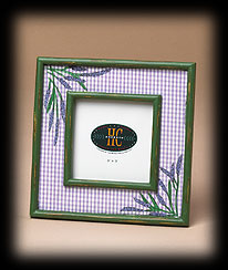 Small Lavender Gingham Photo Frame Boyds Bear