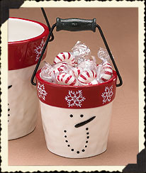 Snowman Bucket Boyds Bear