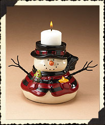 Snowman Tea Light Holder Boyds Bear